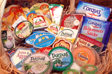 Подарочная корзина с сырами