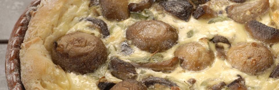 Пирог с грибами и сыром Милкана Камамбер Ле Кремье