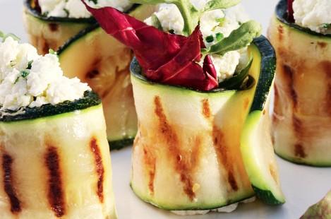 Рулетики из цукини с творожным сыром Милкана Tasty Fresh сливочный